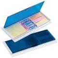 Rigla cu caseta cu foite colorate adezive si clipuri