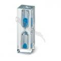 Clepsidra plastic transparent cu nisip albastru