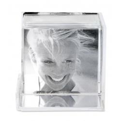 Cub foto din sticla 3 D
