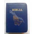 Biblie medie lux bleumarin, cu maini