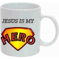 Cana cu imprimeu, Jesus is my Hero!