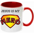 Cana culoare rosie, Jesus is my Hero!