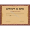 Certificat Botez, Model1