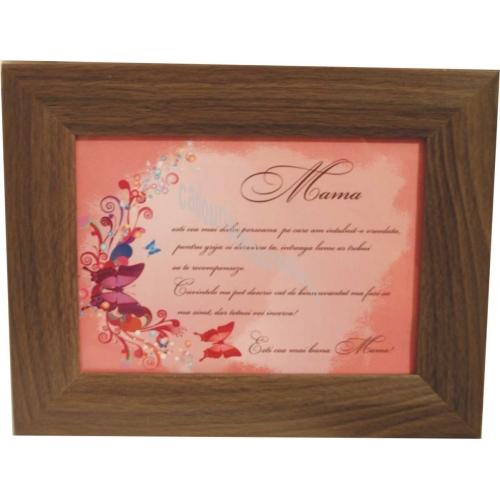 Diploma Mama Cu Mesaj Deosebit In Rama Lata
