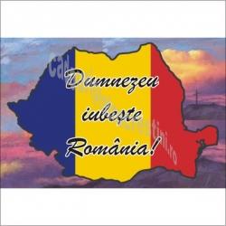MAGNET FRIGIDER Dumnezeu iubeste Romania!