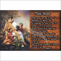 Stiker Isus si copilasii, text Tatal Nostru