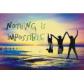 Sticker mesaj Nothing is impossible!