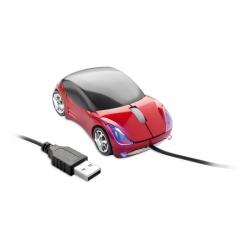 Mouse in forma de masina rosie