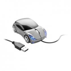 Mouse in forma de masina argintie