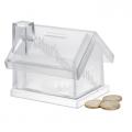 Pusculita transparenta, forma casa