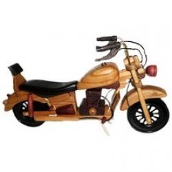 Motocicleta lemn lucrata manual, Model1