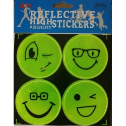 Set 4 stickere reflectorizante Smiley Face