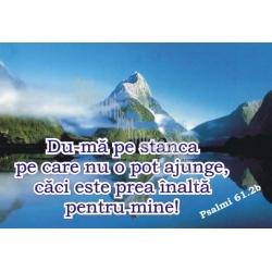 Sticker Psalmul 61.2  Du-ma pe stânca pe care n-o pot ajunge