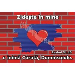 Sticker Psalmi 51.10 - Zideste in mine o inima curata, Dumnezeule!