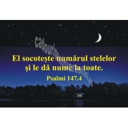 Sticker Psalmi 147.4 - El socoteste numarul stelelor si le da nume la toate