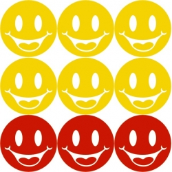 Stickere mari Smiley Faces, decupate contur