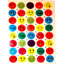 Set Stickere multicolore smile Folie 40 buc