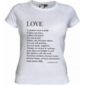 Tricou alb femei, Love is patient...
