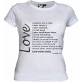 Tricou alb femei, Love is.. patient2