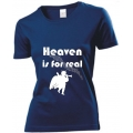 Tricou femei bleumarin Heaven is for real