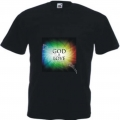 Tricou negru  imprimeu God is Love