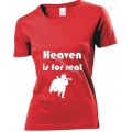 Tricou femei rosu Heaven is for real